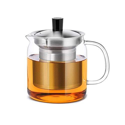HJYSQX Botella de Agua de Jarra de Agua de contenedor de Vidrio de 0.5 L/L, y sin Fugas de Agua, 100% Libre de BPA, Jarra de Vidrio Anti-explosión, café de Vino de Agua fría y Caliente (Olla Indi