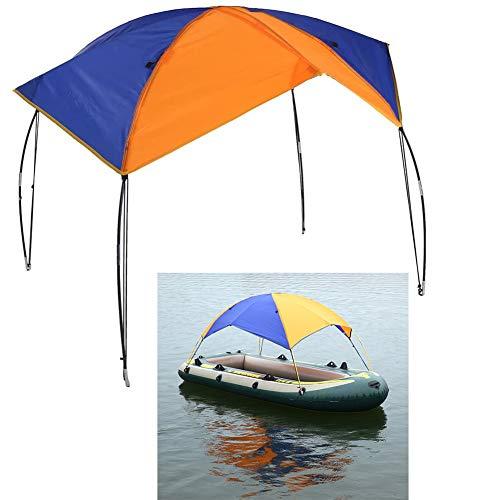 Floving 4-5 Personen Schlauchboot Sonnenschirm Inflatable Boat Segeln Markisendach Markise Obere Abdeckung Angelzelt.