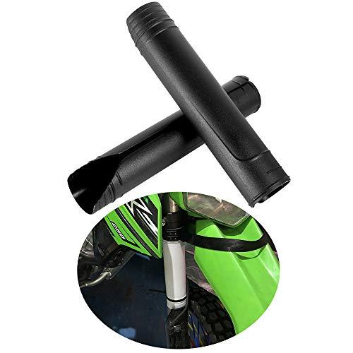 Motorrad Obere Gabelschutz Harte Plastikhüllen Schutzhülle für Gabel mit Durchmesser von 50mm-60mm Universelles Zubehör (Schwarz)