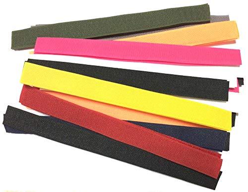Batelsortiment Klettband 20 x 20 cm verschiedene Farben