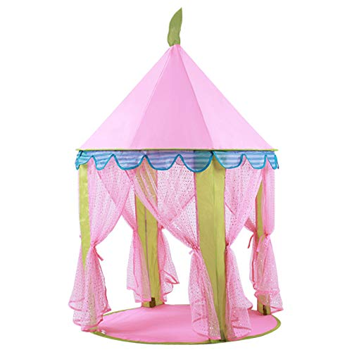 CSQ Children Playhouse, Pink Girl's Play Tent Dream Tent House for Little Girl's Dream, Castle Teepee - Pink Childhood - Toy Hut Children's play house (Color : Pink, Size : 104 * 140CM)