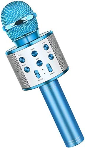 Fun Boys Toys Age 3 12 Wireless Bluetooth Karaoke Microphone for Kids Portable Handheld Mic product image