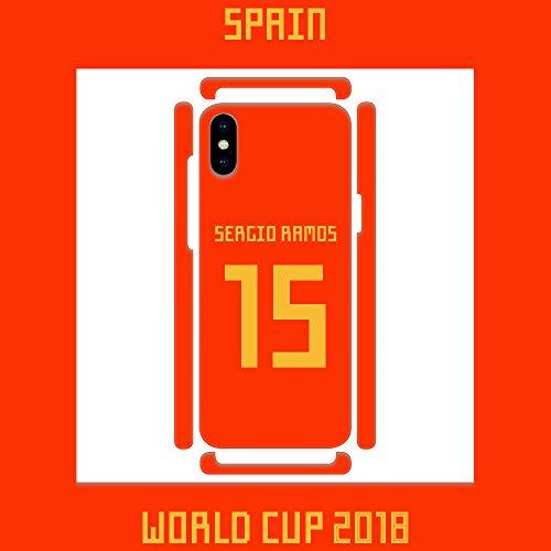 DìMò ART Cover Case Custodia Apple Modello iPhone 5 Mondiali di Calcio World Cup 2018 Spagna Spain Sergio Ramos 15