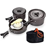 Outgeek 9PCS Camping Cookware Set Outdoor Portable Camping Cookware Kit for 2-3 Persons