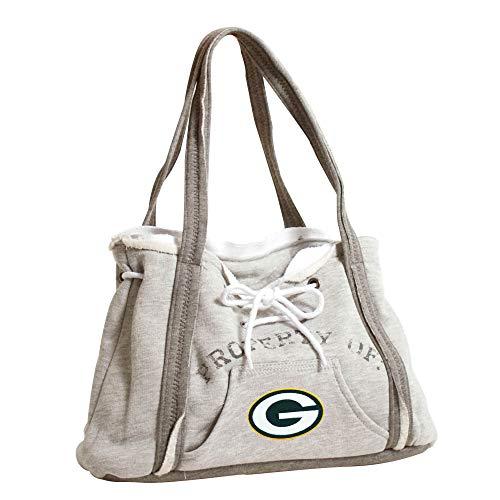 "Littlearth womens NFL Green Bay Packers Hoodie Purse Gray, 9.5"" H x 15.5"" W x 4"" D"