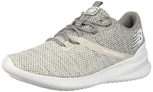 New Balance Women's Cush+ District Run V1 Shoe, Light Cliff Grey, 5.5 W US