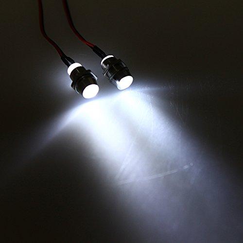 1pc 2 LED Upgrade 5mm Lampe Lumière Blanc Accessoire pour Voiture Camion RC 1/10