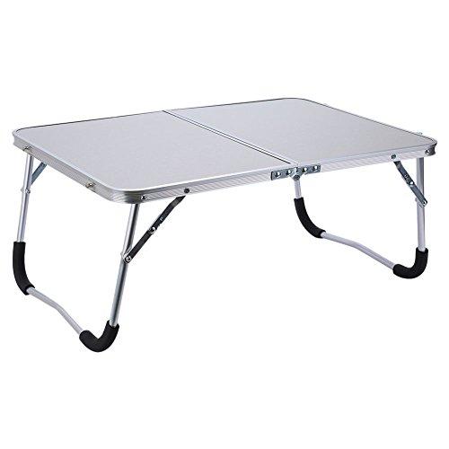 Gesh Soporte de mesa portátil ajustable para ordenador portátil, plegable, para lectura o cama, color blanco