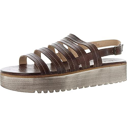 Bed Stu Women's Ensley Leather Sandal (8, Teak Rustic)