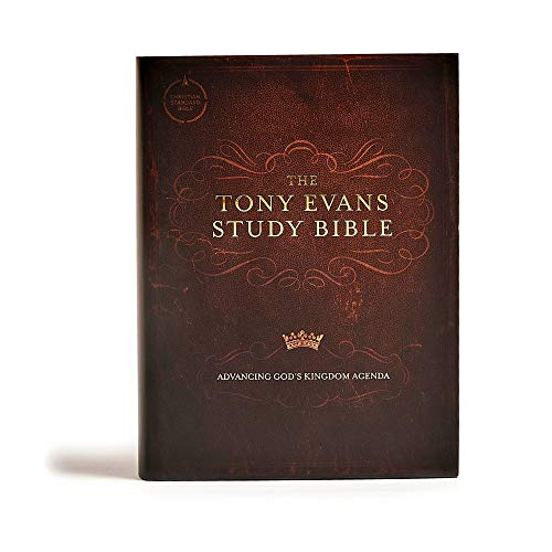 CSB Tony Evans Study Bible, Hardcover, Black Letter, Study Notes and Commentary, Articles, Videos, Ribbon Marker, Sewn Binding, Easy-to-Read Bible Serif Type