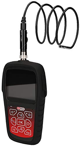 KS Tools 550.7500 Videoskop-Satz mit Ø 6,0 mm, 0° und 90° HD Frontkamera-Sonde, umschaltbar, Schwarz, 5-Tlg