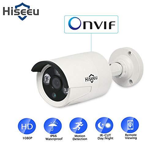SSSabsir Hiseeu HB612 1080P POE IP Camera 2.0MP Bullet CCTV Camera Waterproof Indoor Outdoor Home Security Camera 1080P POE
