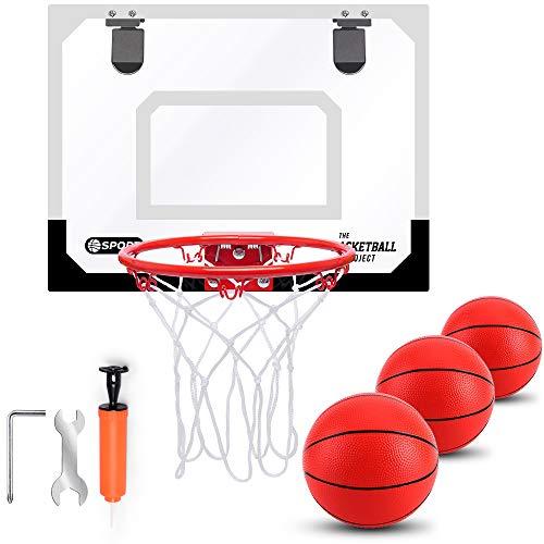 TNELTUEB Mini Basketball Hoop Set for Kids Indoor Mini Basketball Hoop...