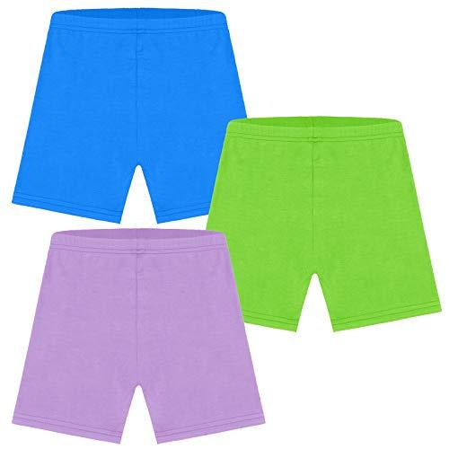 Ruisita 3er-Pack Tanz-Shorts, Fahrrad-Shorts, Mädchen-Fahrrad-Shorts, atmungsaktiv und sicher. - Violett - 24-36 Monate