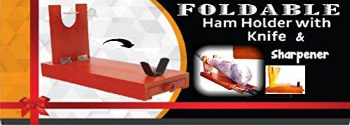 Calidad profesional politainer serrano jamón Ibérico soporte estante de la góndola para afilador cuchillo + + cajón idea de regalo