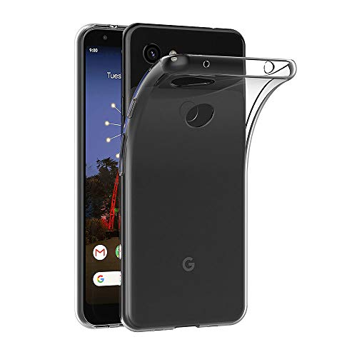 AICEK Cover Compatible Google Pixel 3A, Cover Google Pixel 3A Silicone Case Molle di TPU Trasparente Sottile Custodia per Google Pixel 3A (5.6 Pollici)