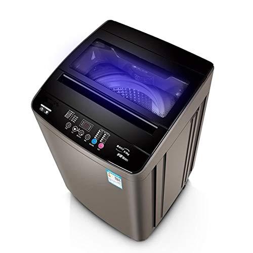 ZXD Lavadora portátil compacta, Capacidad de 10 kg, 10 programas de Lavado, Lavadora de Ropa de Carga Superior