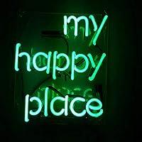 ネオンサイン、my happy place NEON SIGN 、ディスプレイ サインボード、ギフト、 省エネ、バー、カフェ、喫茶店、広告用看板、クラブ及び娯楽場所等 インテリア
