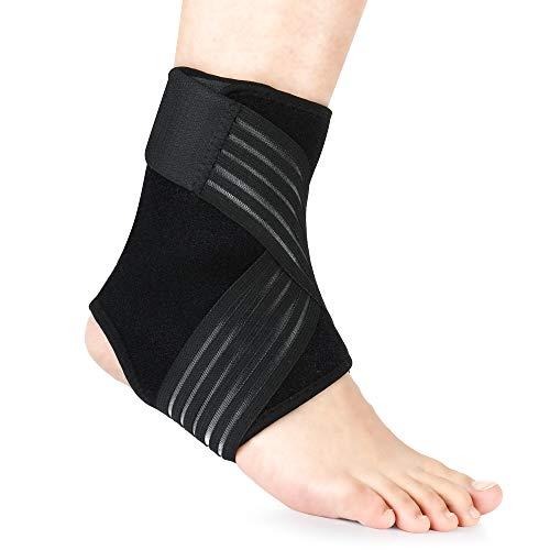 REAQER Knöchel Sport Bandage Set & Single, Bandage Knöchel zur Stabilisierung des Knöchels, Achillessehnenbandage mit extra Knöchelriemen, Fußwickel für Männer und Frauen