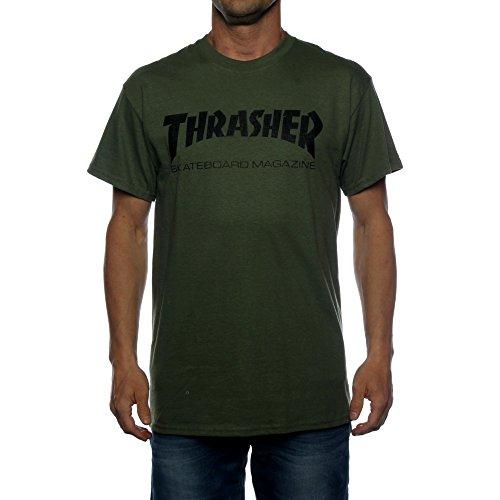 Thrasher Skate-Mag - Maglietta Army verde M
