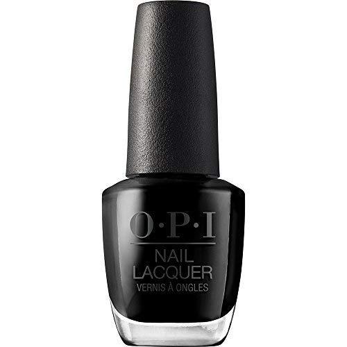 OPI Nail Laquer - Esmalte Uñas Duración de hasta 7 Días, Efecto Manicura Profesional Color Hot & Spicy Negro - 15 ml