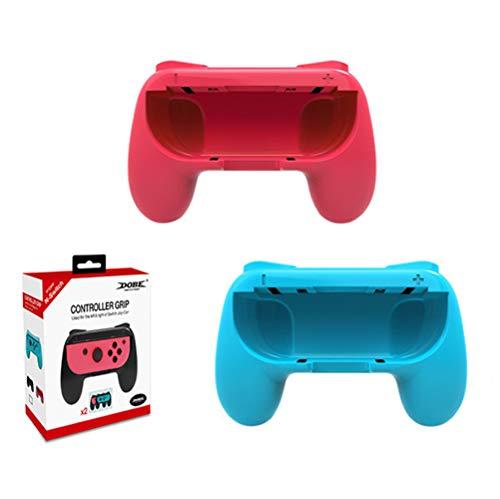 Switch Joy-Con Controller Griff Zubehör Kompatibel Mit Nintendo Switch Joy-Con Controller, Zweiteilig Griffzubehör, Schwarz × 2 / Rot × 1, Blau × 1