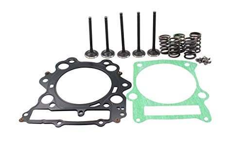MOTOKU Engine Cylinder Head Intake & Exhaust Valve & Head Top End Gasket Spring Kit for Yamaha Grizzly 660 Rhino 660 Raptor 660R ATV