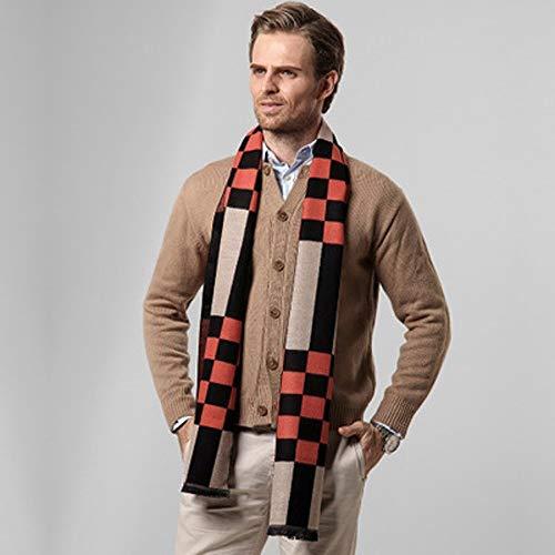 L.J.JZDY sjaals Winter Warm Tartan Plaid sjaal mannen merk wol kasjmier sjaals ontwerper zachte sjaals mannen lange Warp sjaal sjaal voor mannen
