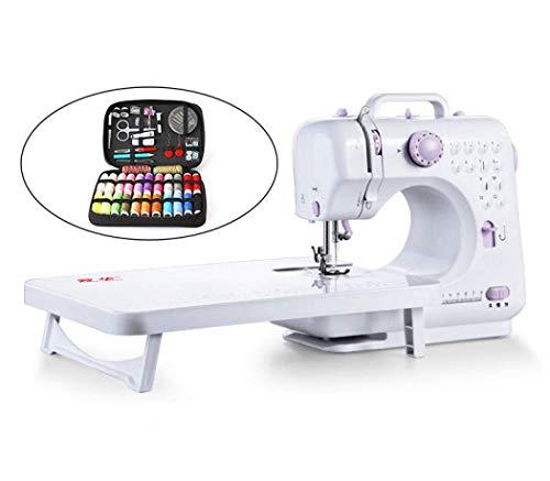 APAN Máquina de Coser,máquina de Coser básica eléctrica portátil con Mesa de extensión y líneas de Color para Principiantes,Alta Velocidad Baja,Diferentes Patrones de Costura (Traje,estándar brit