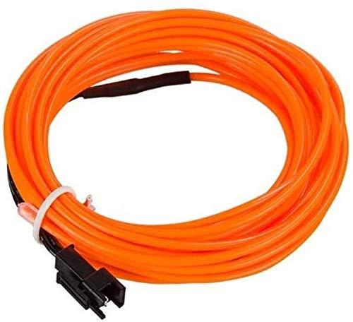 GYY Luz de neón LED 10 Colores 5m Cable con Adaptador de Corriente Lámpara de Tira de LED USB/Coche/Caja de batería 3 Tipos Interfaz (Color: Hielo Azul)