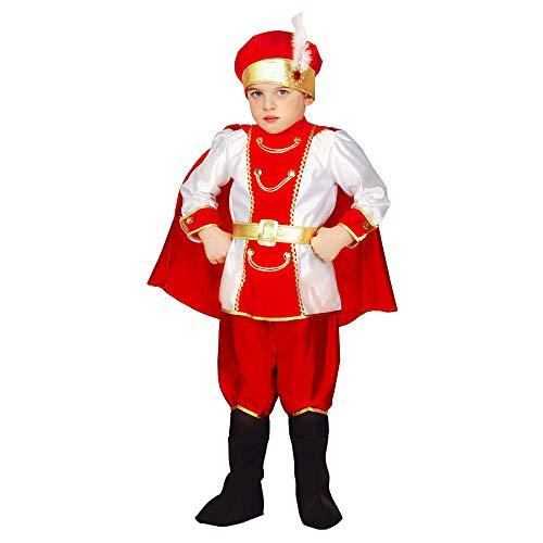WIDMANN 34755 - Disfraz de princesa y príncipes para niños, multicolor, 116 cm