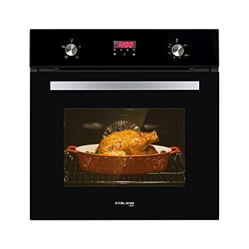 Horno de pared individual, GASLAND Chef GS606DB de 24 pulgadas, horno de gas natural integrado, 6 funciones de cocción, horno de pared...