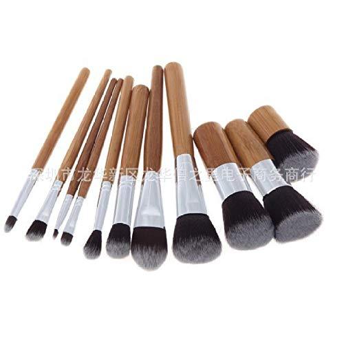 Maquillage Pinceau Ensemble Pinceau De Maquillage Set 11 Manche Bambou Pinceau De Maquillage Outils De Beauté