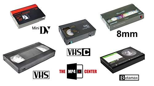 Video Tape Transfer (VHS, VHS-C, 8mm, Hi8, Digital8, MiniDV) to MP4