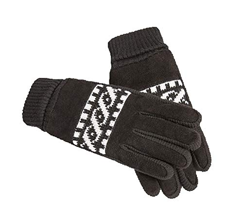 Black Temptation Herren Winterhandschuhe Warm Bike Handschuhe Fahrhandschuhe, Schwarz-10