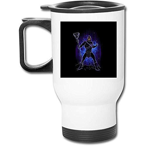 Meister des Universums Shadow Of Skeletor 16 oz Edelstahl Becher doppelwandige Vakuum-Kaffeetasse mit spritzwassergeschütztem Deckel