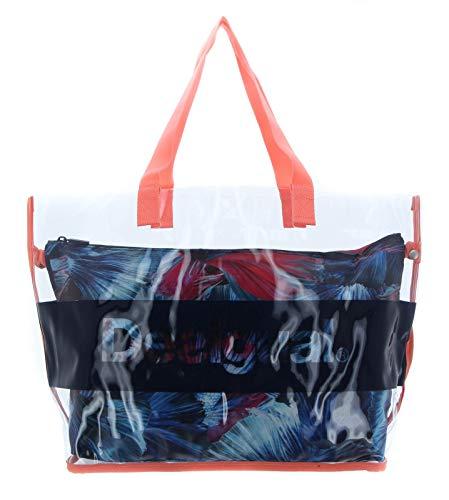 Desigual Atlantis Transparent Swim Shoulder Bag Petroleo
