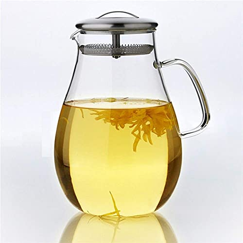 LEIJINGZI Worth having - 2.0L Iced Tea Jug Borosilicate Glass Cup Servies Juice Fles Fruit Thee Fles Theepot Set