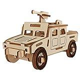 Supvox Car Puzzle 3D Jeep Toy de Madera para niños Regalos de cumpleaños