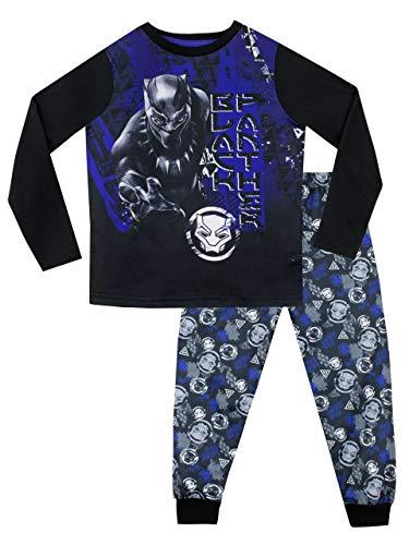 Marvel Pijamas de Manga Larga para niños Black Panther Multicolor 12-13 Años