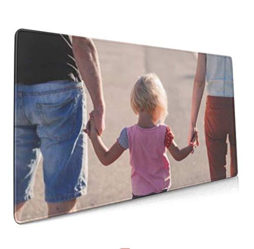 Personalisierte Mousepad mit eigenem Foto Bedrucken,Geschenke Für FreundeXXL Mauspad Gaming 800x300 mm,XXL Mousepad groß Tischunterlage Large Size Geschenk für Freund Weihnachten