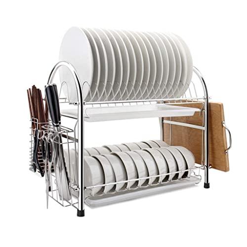 Soporte para Cubiertos Estante Multifuncional para Platos de Cocina Bandeja de Drenaje de plástico Estante de Almacenamiento de Cubiertos Caja de Almacenamiento de Cocina Estante de Suministros en l