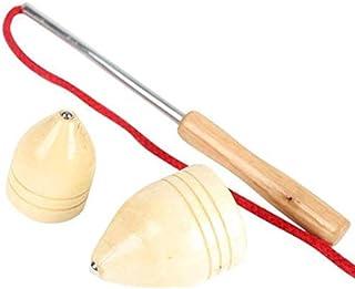 Toyvian 2 Piezas de Madera Spinning Tops Peg-Top Juguetes para ni/ños Juguetes educativos de Regalo Artesanal