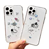 AMART 2Pack Case for iPhone 12 Pro, Crystal Clear Creative