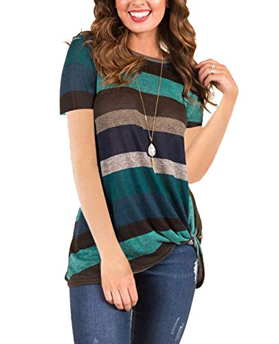 (40% OFF Coupon) Side Twist Stiped T-Shirt $10.19