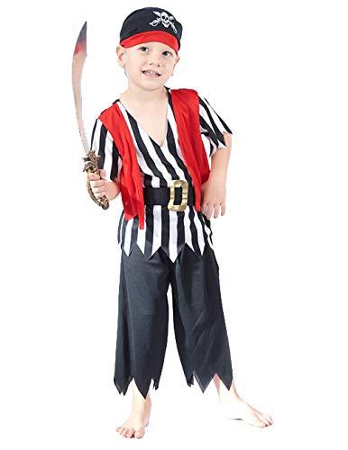 DEGUISE TOI Déguisement Pirate Pantalon garçon - XS 3-4 Ans (92-104 cm)