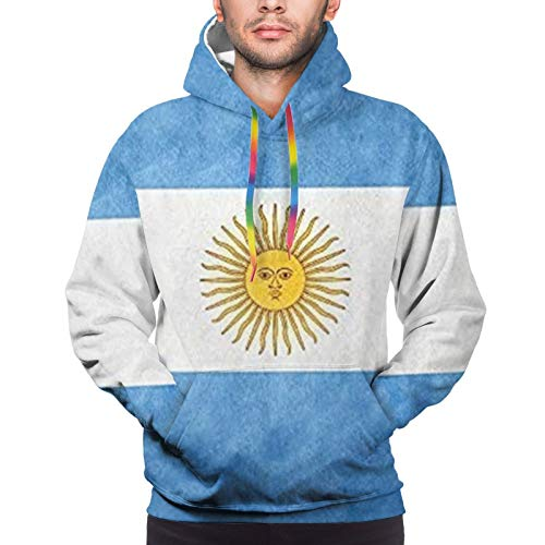 Hangdachang Argentinian Flag Youth 3D Printed Hooide Sweatshirt with Pocket XXXL