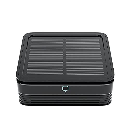 Purificatore d'Aria per Auto HEPA,Depuratore Solare, Indice Muto: Meno di 30 Db, 4 in 1 Purificatore Diffusore, Perfetto per L'auto, Filtrazione A 4 Strati E 4 velocità (Rosso)