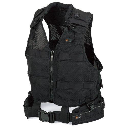 Lowepro S&F Deluxe Belt & Vest Kit, S/m - Accesorio para cámara (S/m, 1 kg, Negro)