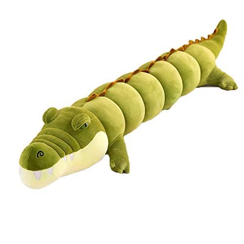 STKASE® Krokodil Kuscheltiere XXL Riesen Pluschtier süße Geschenk für Geburtstag Valentinstag Muttertag, Bett-Zeit-Plüschtier-Spielwaren, Nette weiche Plüsch,Grün,120cm